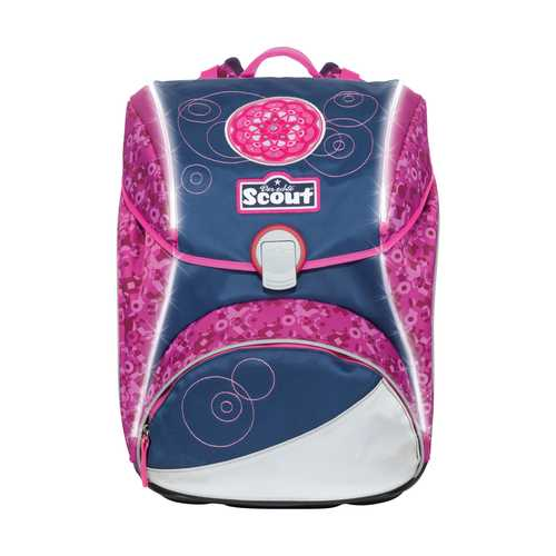 Scout Schulranzen Safety Light Alpha Pink Mandala Frontansicht